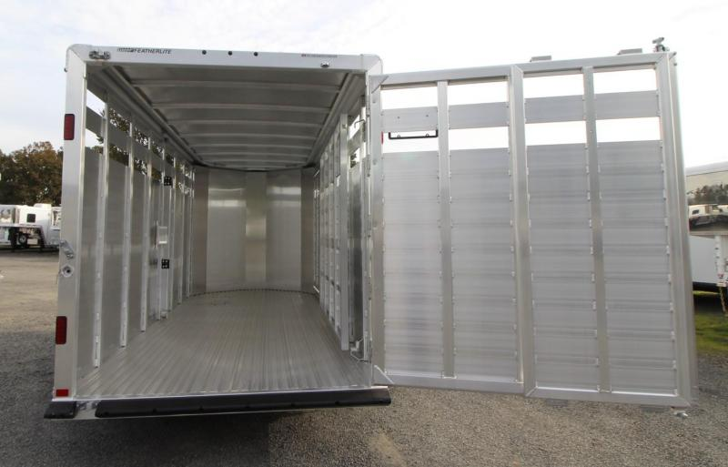 2020 Featherlite 8107 - 16' Livestock Trailer - Sliding Sort Door - Center Divider Gate  - Curbside Escape Door -  Full Length Single Rear Door PRICE REDUCED