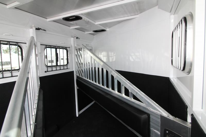"NEW 2019 Trails West Classic 3 Horse Trailer - Upgraded with Escape Door - Added Height 7'6"" Tall PRICE REDUCED $500"