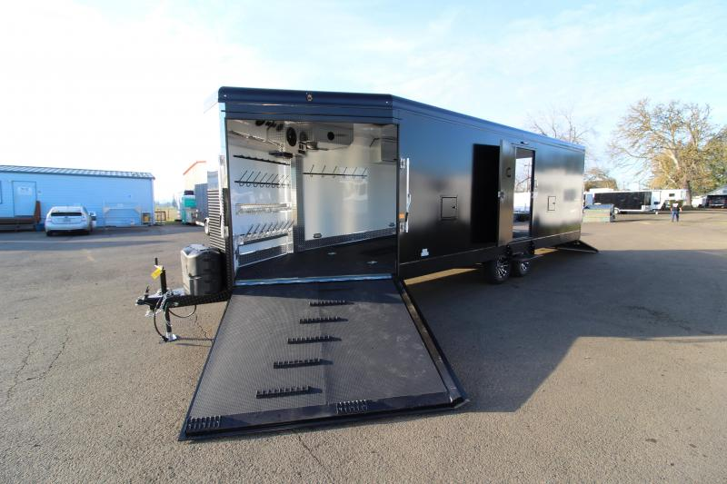 2020 Trails West 28' RPM Snowmobile Trailer - Lined and Insulated - Furnace - Track Melts - Kicker Speakers - Car Hauling Capabilities