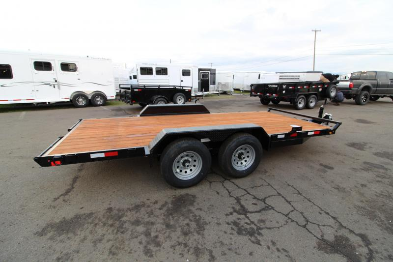 2020 Eagle 7' x 16' Flatbed Trailer - Upgraded Axles - Spare Tire - Spare Tire Mount