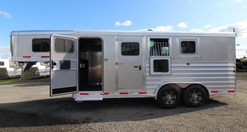 2020 Exiss Trailers 7300 - LARGE Tack Room - Folding Rear Tack 3 Horse Trailer