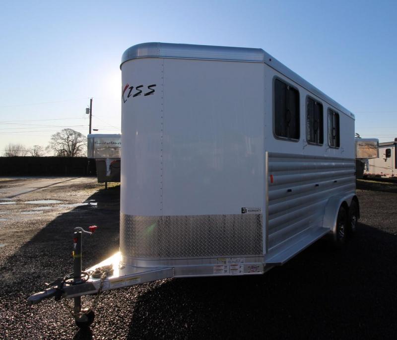 2020 Exiss Express XT 3 Horse Aluminum Trailer Easy Care Flooring