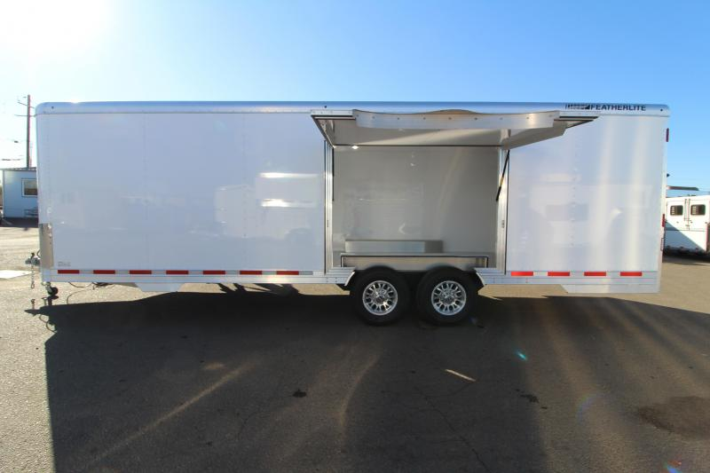 NEW 2019 Featherlite 4926 26' Enclosed Car Trailer - Insulated - Cabinets - 110v Shore Power PRICE REDUCED BY $6050 - $1100 BELOW COST!