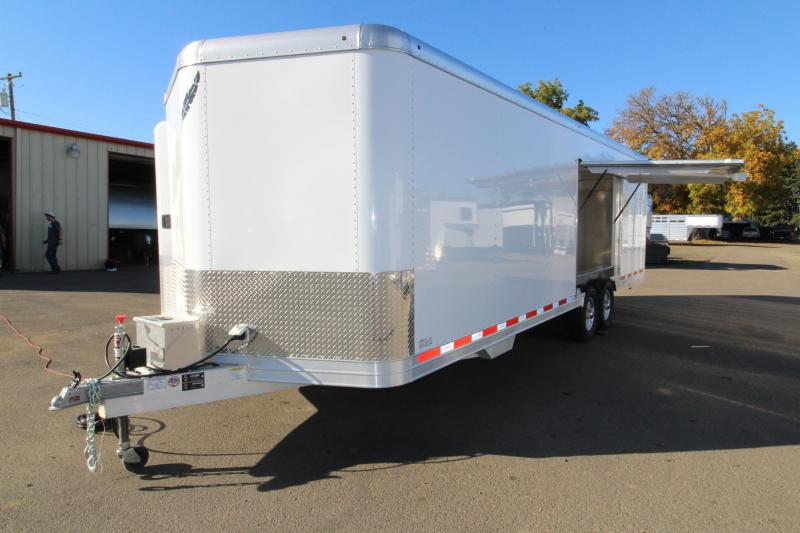 $1100 BELOW COST! NEW 2019 Featherlite 4926 26' Enclosed Car Trailer - Insulated - Cabinets - 110v Shore Power PRICE REDUCED BY $6050