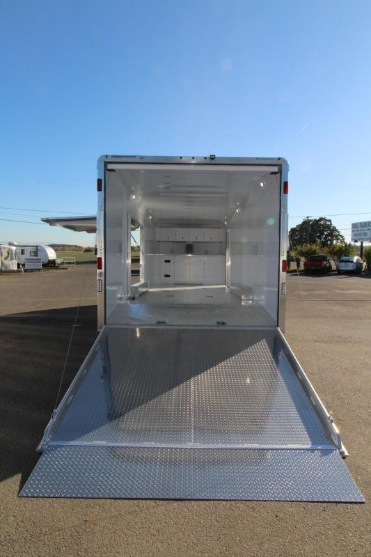 BELOW COST! NEW 2019 Featherlite 4926 26' Enclosed Car Trailer - Insulated - Cabinets - 110v Shore Power PRICE REDUCED BY $5050