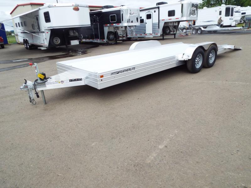 2019 Featherlite 3110 - 20ft Aluminum Flatbed Trailer PRICE REDUCED - Electric brakes - Ramp storage - Ramps - Removable fenders