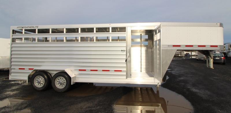 2020 Featherlite 8117 - 20ft Livestock Trailer  w/ Escape door &  Sorting door - 7' Tall - Calf Gate