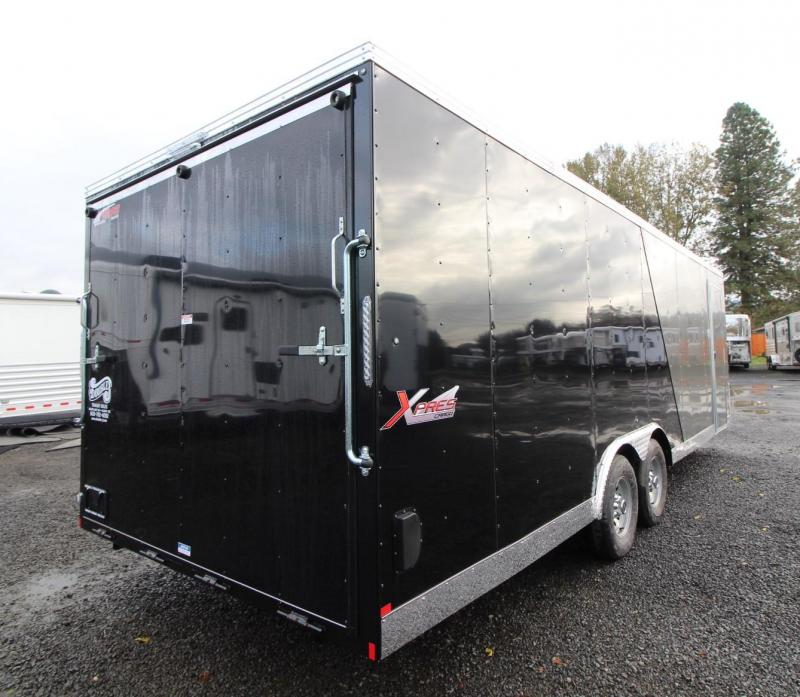 2020 Mirage Xpres 8.5x24 - Car carrier package - RV mandoor - Interior spare tire and mount - Flat roof - V nose