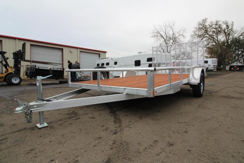 2020 Eagle Trailer Sport ATV Utility Trailer - Top Rail - Pressure Treated Wood Decking - Spare Tire and Mount - Grated Rear Ramp