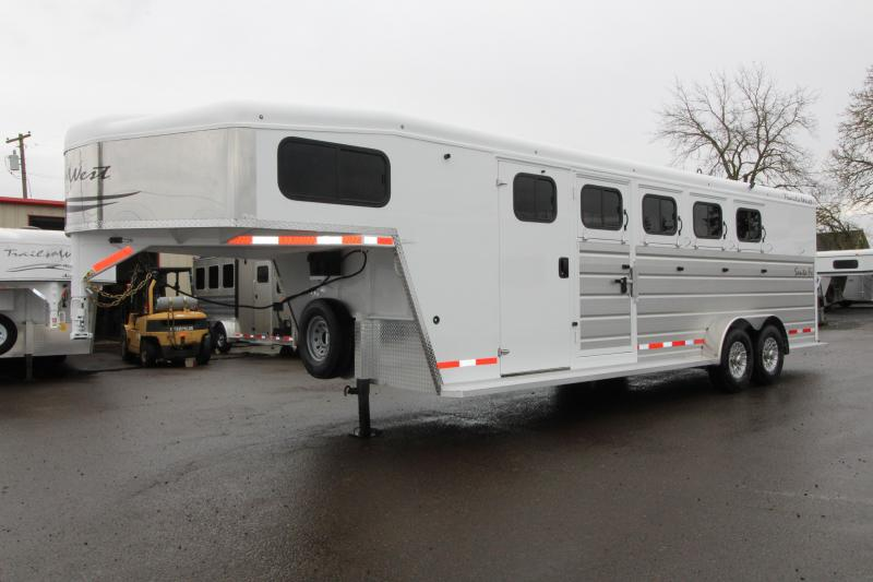 NEW 2019 Trails West Santa Fe 4 Horse Trailer- With Lonestar and Supertack Package - CHECK OUT THIS TACK ROOM!