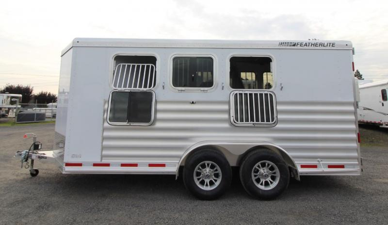 2020 Featherlite 7441 - w/ Rear Tack - Large Dressing Room 3 Horse Trailer