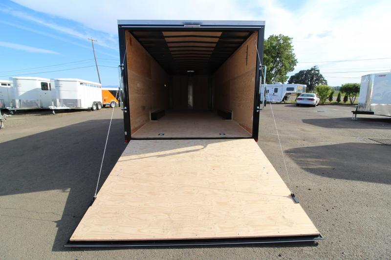 """2020 Mirage Xpres 8.5' x 24' Car/Racing Trailer - Car Carrier Package - V-Nose - Flat Roof - 4"""" Drop Axles - Dome Lights"""