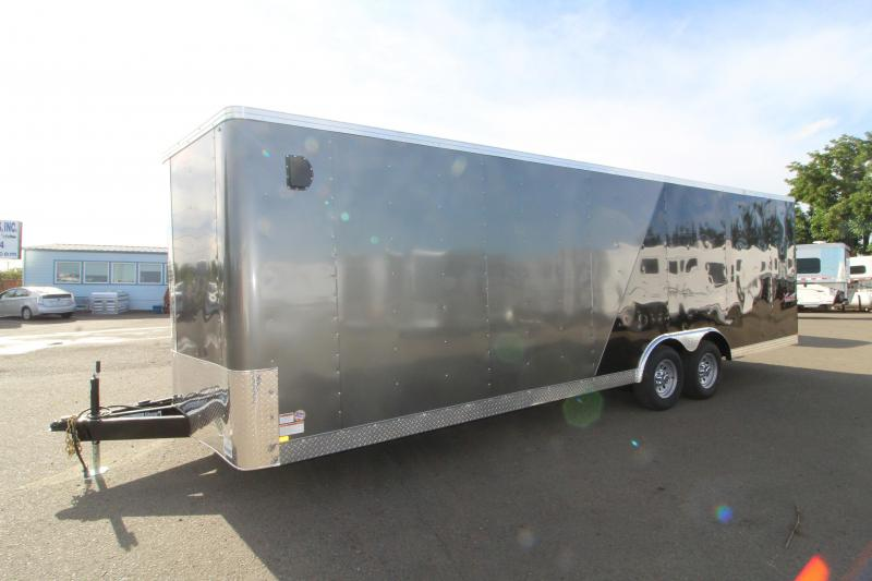"2020 Mirage Xpres 8.5' x 24' Car/Racing Trailer - Car Carrier Package - V-Nose - Flat Roof - 4"" Drop Axles - Dome Lights"