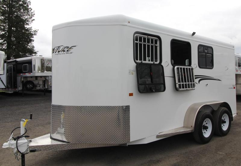 2019 Trails West Adventure MX 3 Horse Trailer - Windows in Rear - Convenience package - Drop down windows