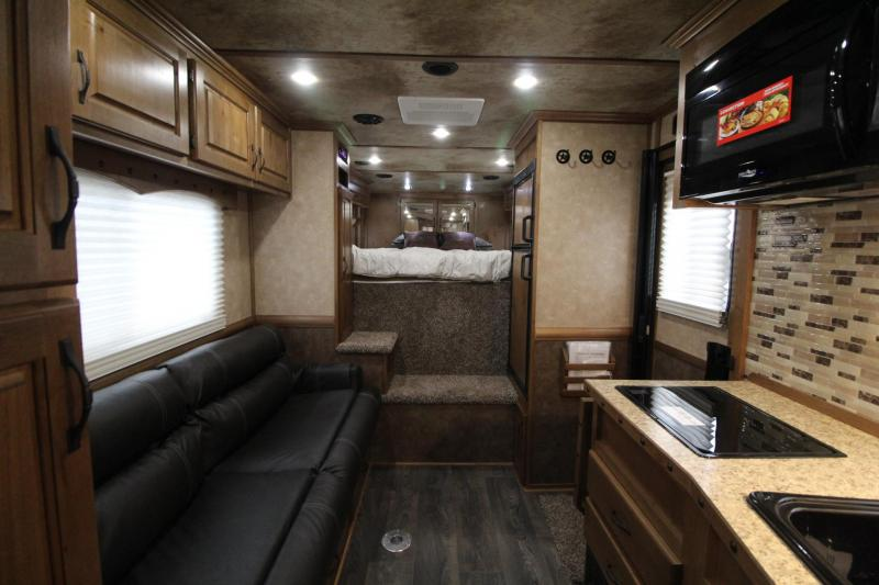2019 Trails West Sierra 11x15 Living Quarters 8ft wide 2 Horse Trailer - Convenience package - Easy care flooring - One piece roof