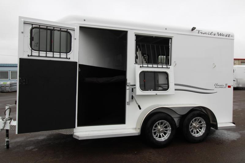 NEW 2019 Trails West 2 Horse Classic Trailer - Escape Door - 7' Tall and Wide - Aluminum One Piece Roof - 3500lb Axles