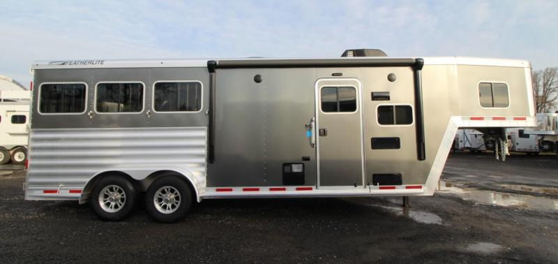 2020 Featherlite 7841 Liberty SE 8ft Sw 7' wide Living Quarters w/ Dinette 3 Horse Trailer