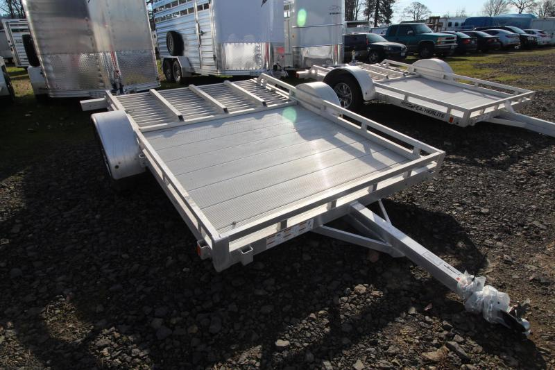 2019 Featherlite 1693 Flatbed 10ft utility Trailer - All Aluminum REDUCED $300 - 8 stake pockets - Rubber torsion axles