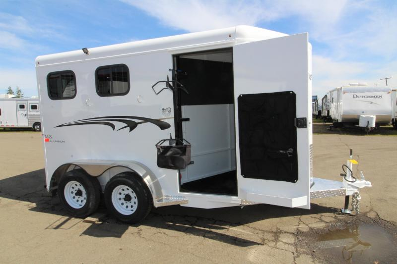 NEW 2019 Trails West Adventure MX 2 Horse Trailer - Swing Out Saddle Rack - Drop Down Windows - NEW Floor Plan with Larger Stalls!