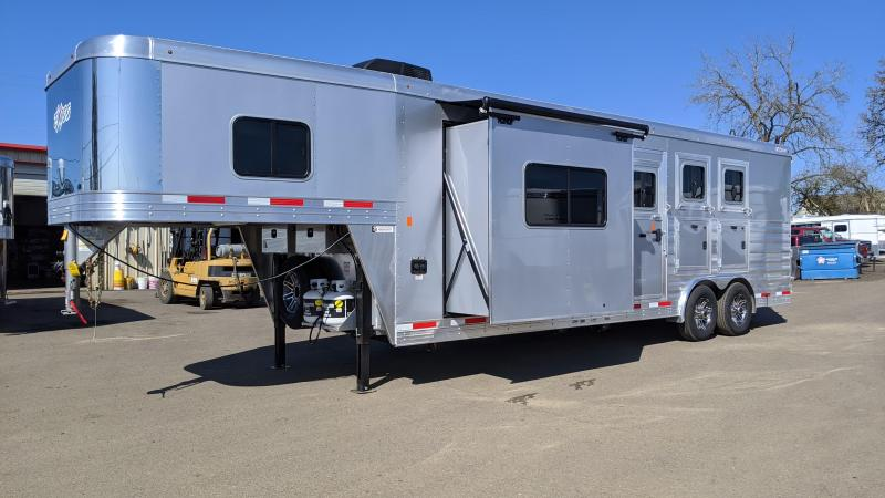 2020 Exiss 8310 3  Horse 10' SW Living Quarters Trailer - Slide Out - Upgraded Interior - Lined and Insulated Horse Area - Stud Wall - Easy Care Flooring - Mangers PRICE REDUCED $1000