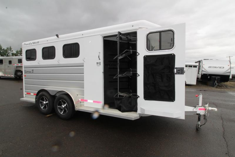 NEW 2018 Trails West Sierra  - Aluminum Skin Steel Frame - 3 Horse Trailer - Lined and Insulated Horse Area - Swing Out Saddle Rack - PRICE REDUCED BY $700