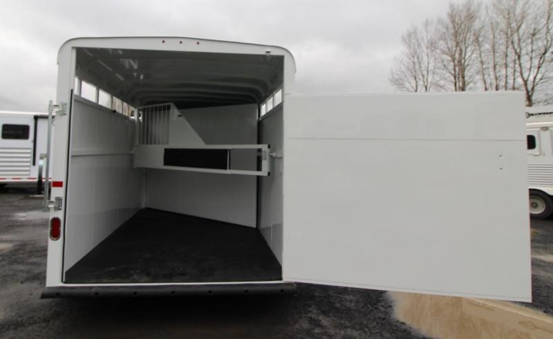 2020 Thuro-Bilt Wrangler 2 Horse Trailer w/ Swinging tack wall - Extra Divider Catch