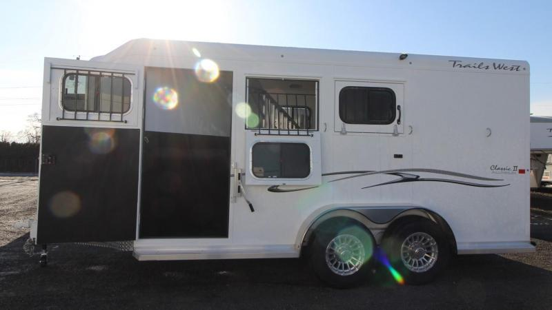 "2019 Trails West Classic II 3 Horse Trailer PRICE REDUCED $1000-  w/ Escape Door - 7'6"" Tall - Convenience Package - Drop Down Feed Doors"