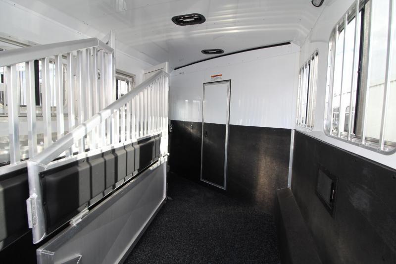 2019 Exiss Endeavor 8314 Living Quarters w/ Slide 3 Horse - Easy Care Flooring - Aluminum Trailer - Couch & Dinette PRICE REDUCED $5000