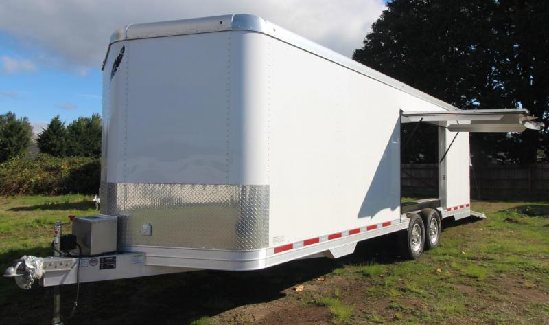 NEW Featherlite 4926 - All Aluminum - 24' Enclosed Car Trailer - Lined & Insulated w/ Cabinets PRICE REDUCED - $1630 BELOW OUR COST