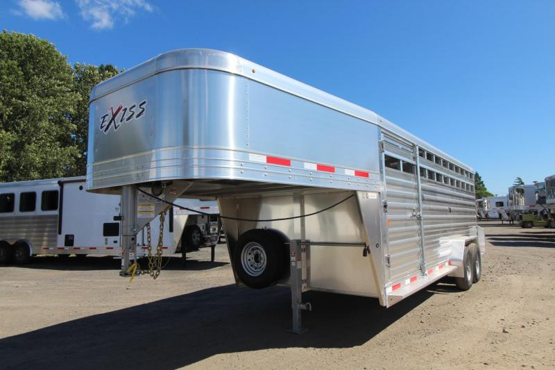 2020 Exiss STK 7020 - All Aluminum - 20ft Livestock Trailer - Added Slider in Center Gate -  Heavy Duty Slam Latch w/ External Release REDUCED 900