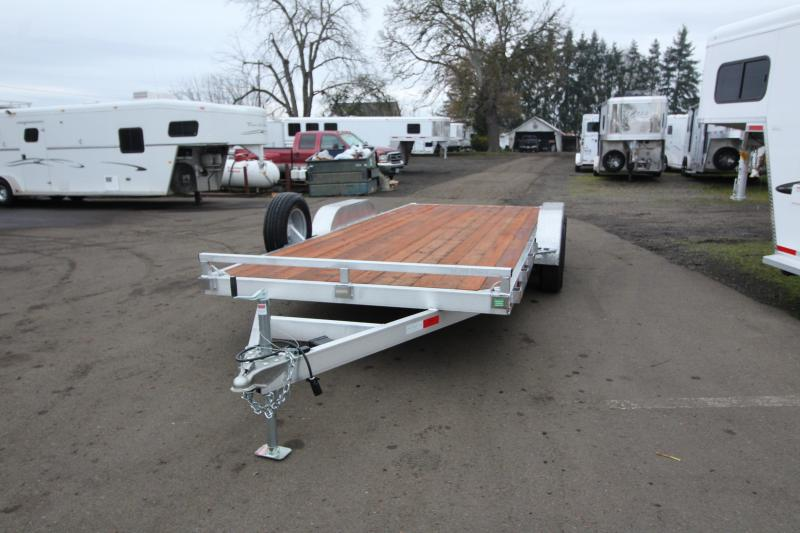 2020 Eagle 7' x 18' Tandem Axle Aluminum Flatbed Trailer - Pressure Treated Wood Decking - 10k Axles - Spare Tire Mount - Spare Tire