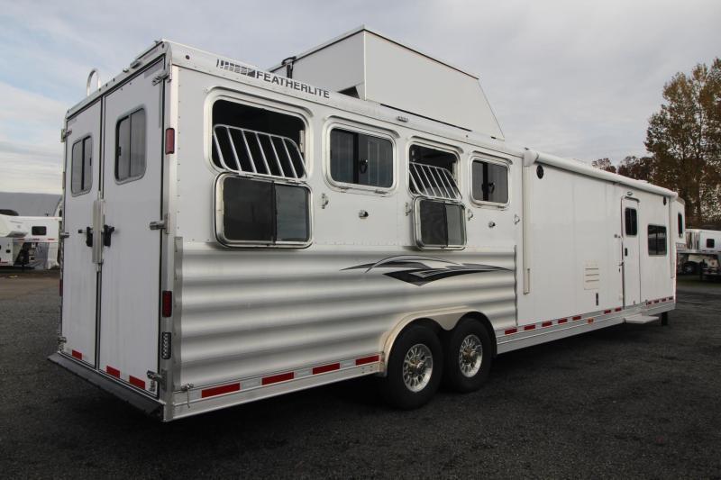 2019 Featherlite 9821- 17ft w/ Slide - BELOW COST! - All Aluminum - GENERATOR - 4 Horse Living Quarters Trailer - Haypod & More! PRICE REDUCED $14000