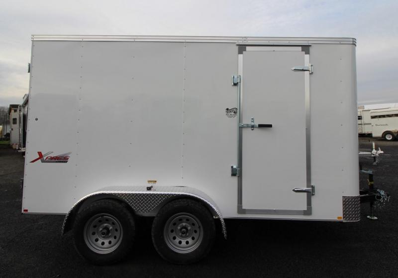 2020 Mirage Trailers 7x12 TA Enclosed Cargo Trailer w/ Double Rear Doors
