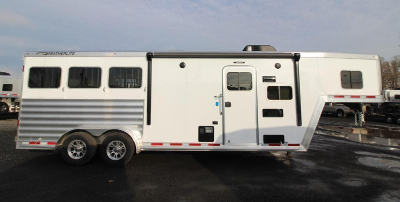 2020 Featherlite 7841 Liberty Legend 8ft SW Living Quarters 7ft wide 3 Horse Trailer Jail Bar Dividers PRICE REDUCED