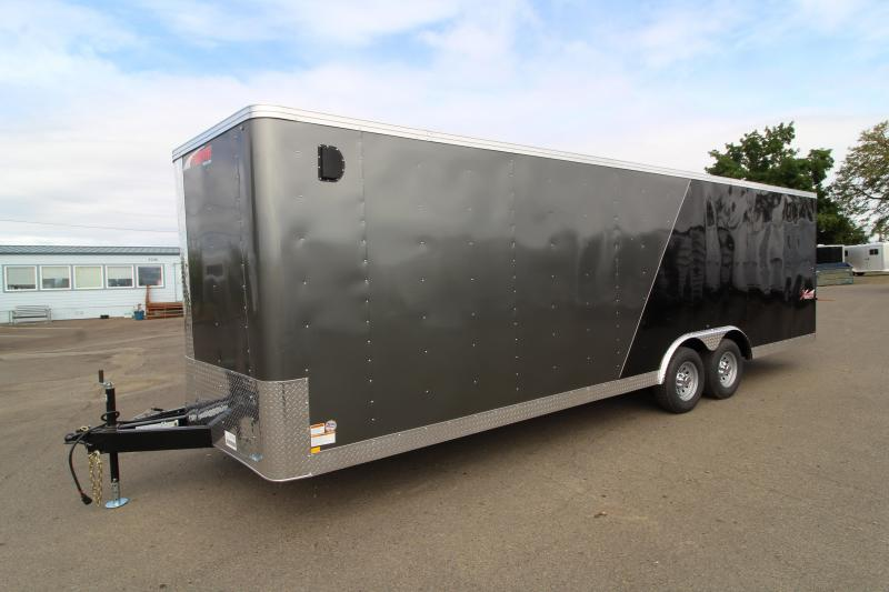 2020 Mirage Xpres 8.5 x 24 Car / Racing Trailer- Tandem Axle - V-Nose - Flat Roof - Two-tone Exterior - Car Carrier Package