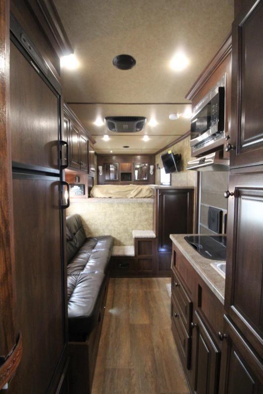 "2019 Exiss Escape 7310 Living Quarters 10' 6"" Short Wall 3 Horse Trailer -  Easy Care Flooring - Upgraded Interior - Stud Divider PRICE REDUCED $4600"