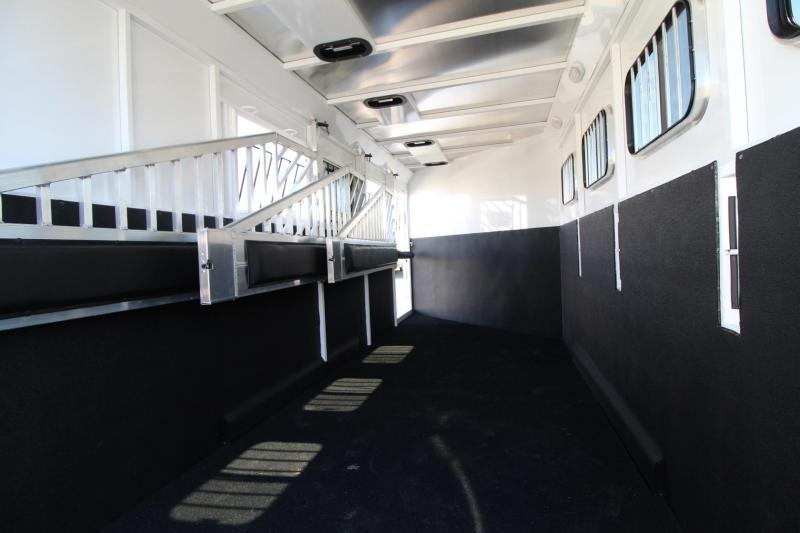 """2019 Trails West Classic 4 Horse Trailer - Escape Door - 7' 6""""Tall - Convenience package - Swing out saddle rack"""