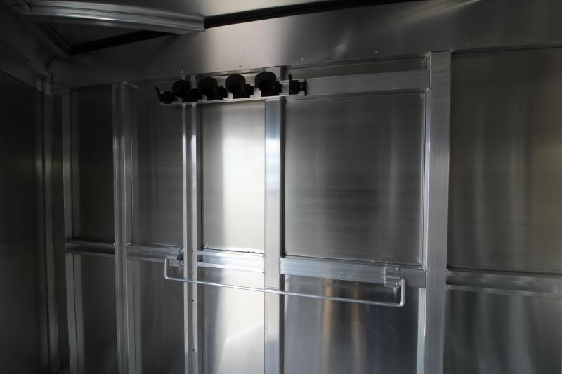 2020 Exiss 720 Horse Trailer - Lined and Insulated Horse Area - Drop Down Feed Windows - Pop-up Roof Vents