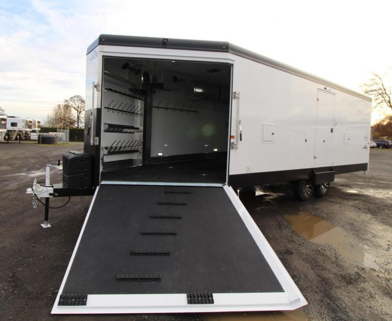 2020 Trails West RPM 28ft Burandt Edition Snowmobile Trailer w/ Power Rear Ramp