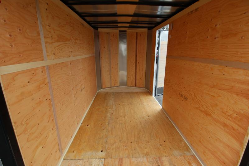 2020 Mirage Xpres 6' x 10' Enclosed Cargo Trailer -  Starbright Stoneguard - LED Dome Light - Rear Ramp Door