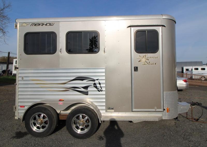 2010 Merhow Aluma Star w/ Ramp 2 Horse Aluminum Trailer