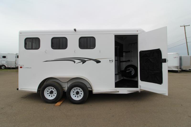 2020 Trails West Adventure MX 3 Horse Trailer - UPGRADED Rear Door Windows - Swing Out Saddle Rack - NEW Floor Plan with Larger Stalls