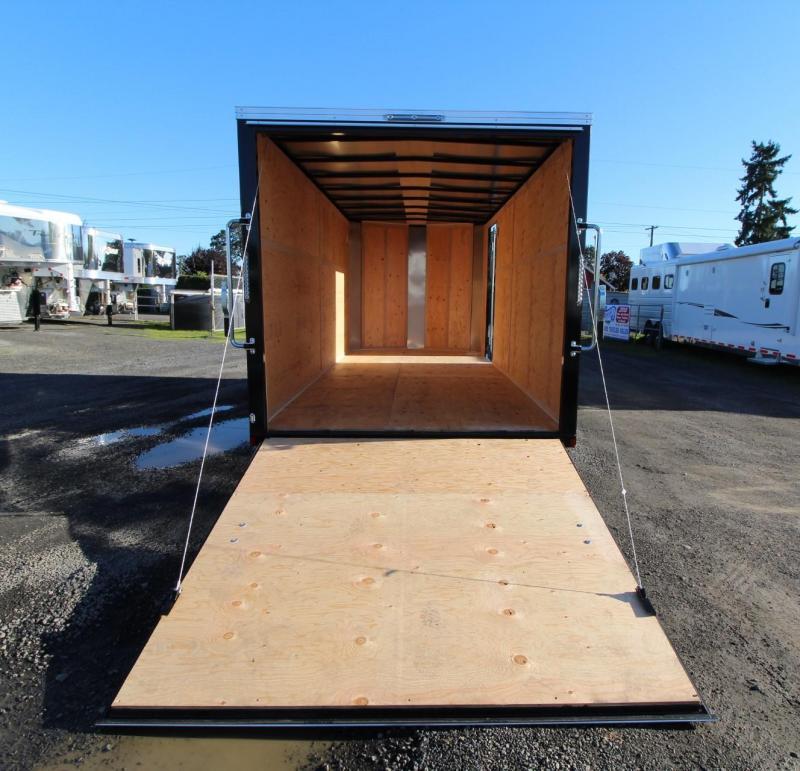 2020 Mirage Xpres 7x16 TA - Xtra Package Enclosed Cargo Trailer - Curbside barlock mandoor - UPGRADED rear ramp door - V nose - Flat roof