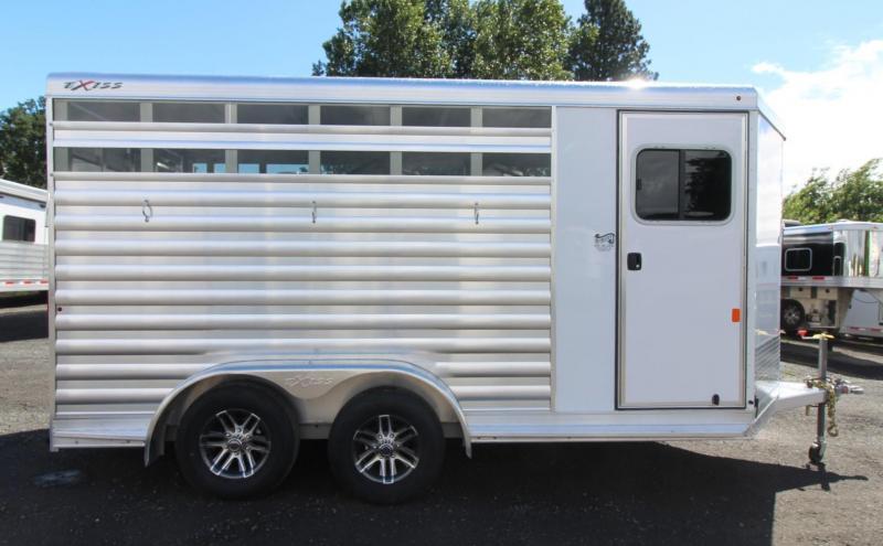 2020 Exiss CX 3 Horse Bumper Pull - All Aluminum Trailer - Easy Care Flooring - Air Gaps w/ Plexiglas Inserts - Fully Enclosed Tack Room