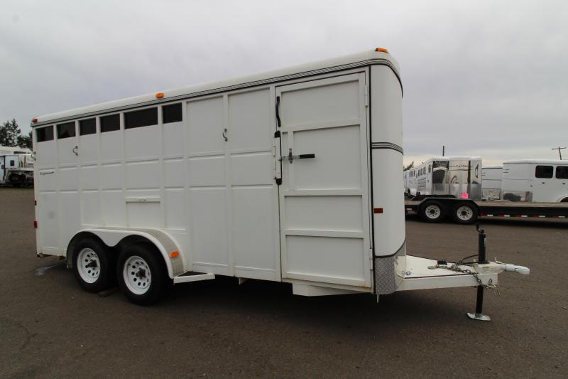 2012 Thuro-Bilt Express 3 Horse Trailer -  Drop down feed windows - Tailside stock airflow vents - Steel construction -  Swinging tack wall
