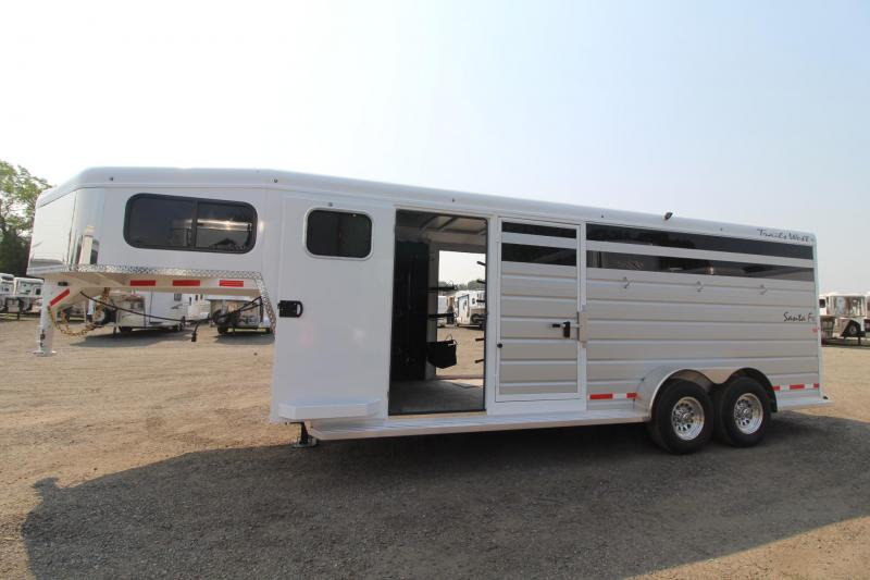 """2018 Trails West Santa Fe 21ft - """"Super Tack""""  - 2 horse/Stock combo Trailer - PRICE REDUCED $1500"""