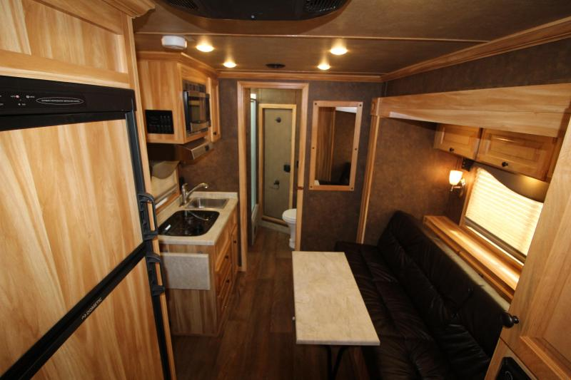 NEW 2019 Exiss 7310 10' SW Living Quarters -  All Aluminum - Slide Out - Sofa - Easy Care Flooring - Upgraded Airflow Dividers - Large Refrigerator - Gorgeous Light Chestnut Interior Decor