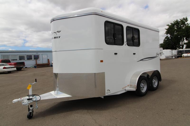 "2020 Thuro-Bilt Shilo 2 Horse Trailer - Extra Tall 7'6"" - Swing Out Saddle Rack - Drop Down Windows - Rear LED Flood Light"