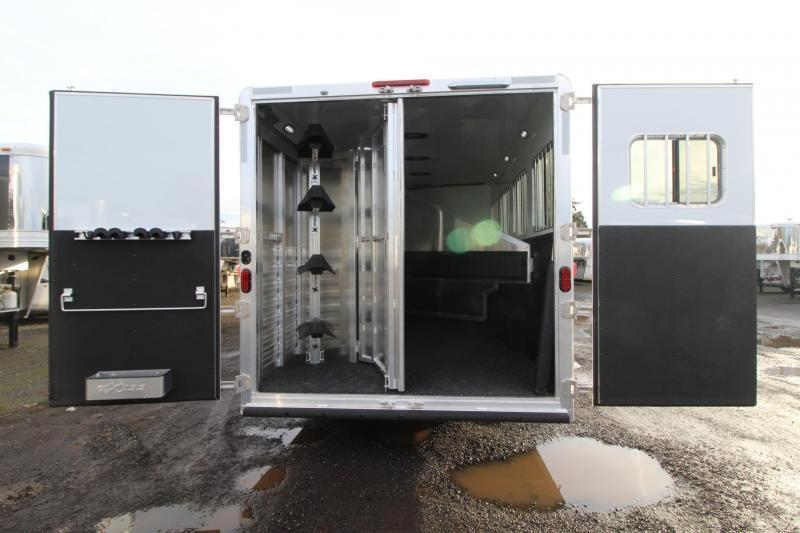NEW 2018 Exiss 8412 W/ Slide-out - 4 Horse Living Quarters Trailer -  All Aluminum - Polylast Flooring - Stud Divider PRICE REDUCED $8200!
