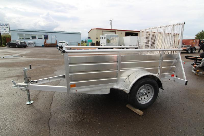 2020 Eagle 5' x 8' Ultra Lite Utility Trailer - All Aluminum Construction - Pressure Treated Wood Decking - 4' Expanded Aluminum Rear Ramp